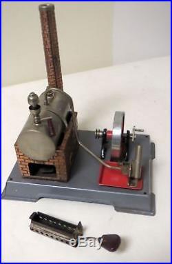 Vintage 1950s FLEISCHMANN'S TOY STEAM ENGINE with grinder & lathe Made in Germany