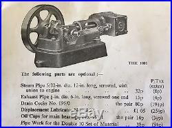 Vintage 1971 STUART TURNER 10H HORIZONTAL STEAM ENGINE Castings -Un-machined NOS