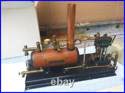 Vintage 1987 Maxwell Hemmens The Caton Twin 3/8 Model Steam Engine and Boiler