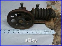 Vintage Antique Small Miniature Steam Engine or air compressor Parts Or Repair