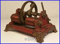 Vintage Antique Toy Steam Engine Cast Iron Generator Motor