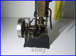 Vintage Antique Vertical Steam Engine with Reverse Lever