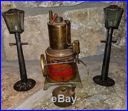 Vintage Buddy L 1920's Rare Train Lantern Metal Toy Steam Engine
