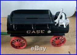 Vintage Case Steam Engine Toy Tractor W Water Wagon Irvins Model Shop