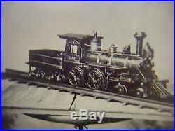 Vintage Child's Toy Steam Engine Tintype Photograph