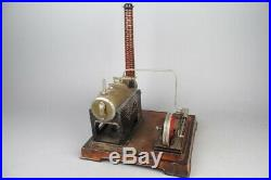 Vintage DOLL D&C live steam engine, prewar tin toy old conversion to electro