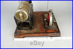 Vintage DOLL D&C live steam engine, prewar tin toy old conversion to electro