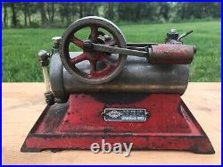 Vintage Empire Metal Co. USA Cast Iron Toy Model Electric Steam Engine B-30