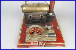 Vintage FALK double cylinder live steam engine, prewar tin toy