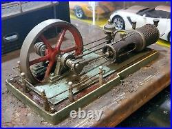 Vintage Fleischman Live Steam Engine Boiler West Germany Railroad 15x14 Base
