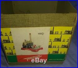 Vintage Fleischmann 120/1 Tin Toy Steam Engine Model withbox