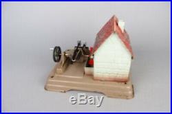 Vintage Fleischmann live steam engine accesory, hammer mill, tin toy #2