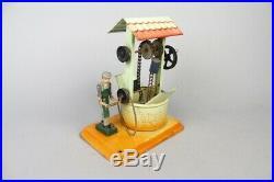Vintage Fleischmann live steam engine accesory, pumping station, tin toy #2