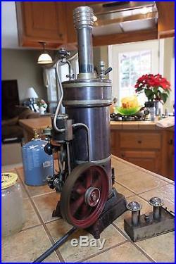 Vintage German Bing Vertical 130/115 Steam Engine Dampfmaschine 10 cm Boiler