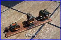 Vintage German Hess Flywheel Drive DYNAMOBIL Steam Engine Toy