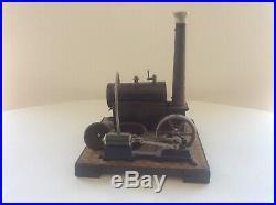 Vintage German Steam Engine Toy Litho & Brass
