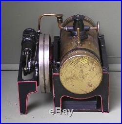 Vintage, Horizontal Bing Model 70-120 live steam engine Made in Bavaria