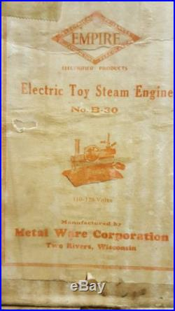 Vintage Horizontal Empire B 30 live steam engine