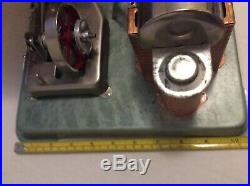 Vintage Horizontal Jensen 75 Steam Engine In Original Box Working Model USA Made