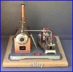 Vintage Horizontal Jensen 75 live steam engine with box