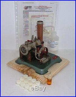 Vintage Horizontal Jensen Model 60 live steam engine (J)