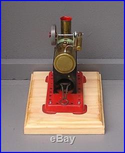 Vintage Horizontal Mamod Minor 1 live steam engine with alcohol burner