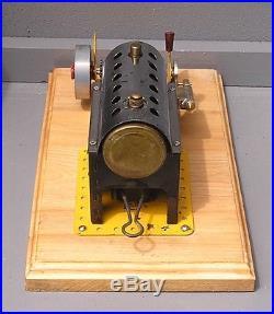 Vintage Horizontal Meccano live steam engine
