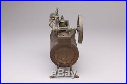 Vintage Horizontal Steam Engine Toy on Trestle Base