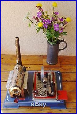 Vintage Horizontal Steam Engine, by Wilesco, Type D16 approx. 70's, good condition