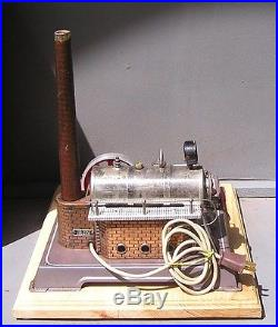 Vintage, Horizontal, Wilesco D-202 electrically heated, live steam engine early