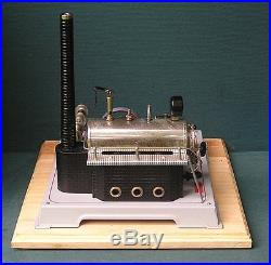 Vintage, Horizontal, Wilesco D-22, two cylinder live steam engine, in excellent
