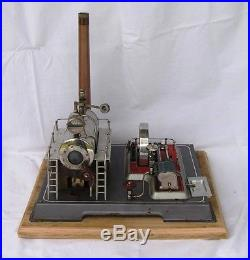 Vintage, Horizontal, early version Wilesco D-20, live steam engine