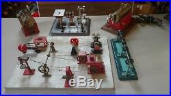 Vintage Huge Lot Of Steam Engines Workshop Tools Wilesco Jensen Weeden