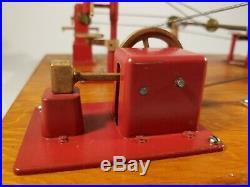 Vintage JENSEN MFG Steam Engine Toy Machine Work Shop #100 made in Jeanette, PA
