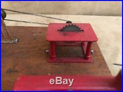 Vintage JENSEN MFG Steam Engine Toy Machine Work Shop #100 sample size working