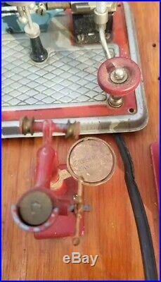 Vintage JENSEN MFG Steam Engine Toy Machine Work Shop & Steam Engine
