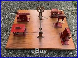 Vintage JENSEN MFG Steam Engine Toy Machine incomplete