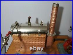 Vintage JENSEN Mfg. Co STEAM ENGINE Model No. 10 Wood Base RARE