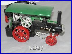 Vintage JI CASE Steam Engine Toy with Water Tender Cast Iron Irvins Shop NEAT
