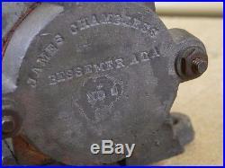 Vintage James Chambless Model Steam Engine Bessemer, ALA Antique LARGE 28 Pounds