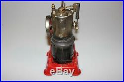 Vintage Japan Linemar Vertical Steam Engine Tin Toy Accessories Original Box M33