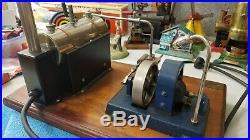 Vintage Jensen #10 Steam Engine Model Power Plant 1940's Brass Tag