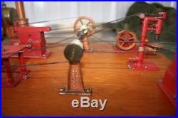 Vintage Jensen Mfg Co Model Steam Engine Boiler Steam Driven 5 Workshop Tools