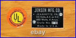 Vintage Jensen Mfg. Co. Scale Working Model Horizontal Steam Engine #5 c. 1960