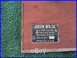 Vintage Jensen Model 10 Miniature Toy Steam Engine Estate Find