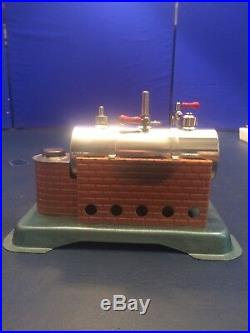 Vintage Jensen Model #65 Steam Engine Toy With The Original Fire Box Tray