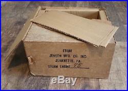 Vintage Jensen Steam Engine No. 75 With Original Box And Paperwork