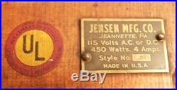 Vintage Jensen Toy Steam Engine Style # 5 On Original Wooden Board WithBrass Plate