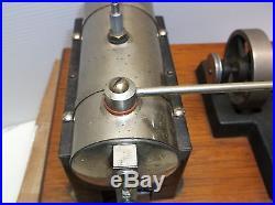 Vintage Jensen model 25 steam engine 4 watt wood mounted