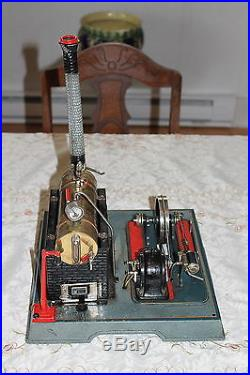 Vintage LARGE Marklin 4097 Steam Engine Toy with Dynamo and Street Light